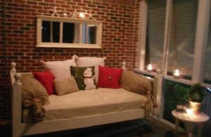 Another example of how to use an old mattress in your living room.