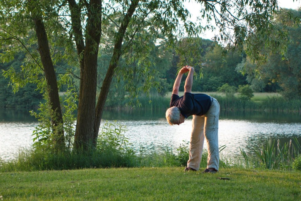 Yoga can be enjoyed at any age and can be done practised anywhere.