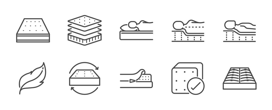 Various memory foam mattress illustrations