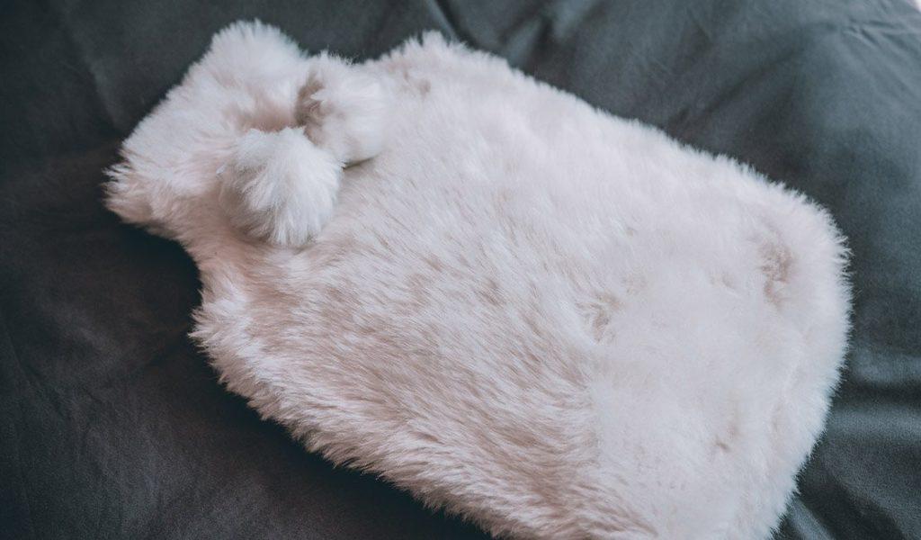 Fluffy warm water bottle