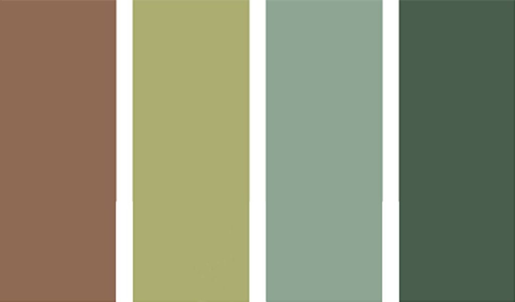 Evergreen forest colour palette to match your bedroom furniture
