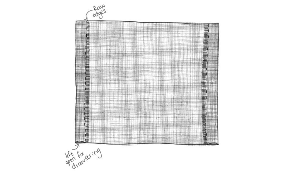 Fabric sewing drawing