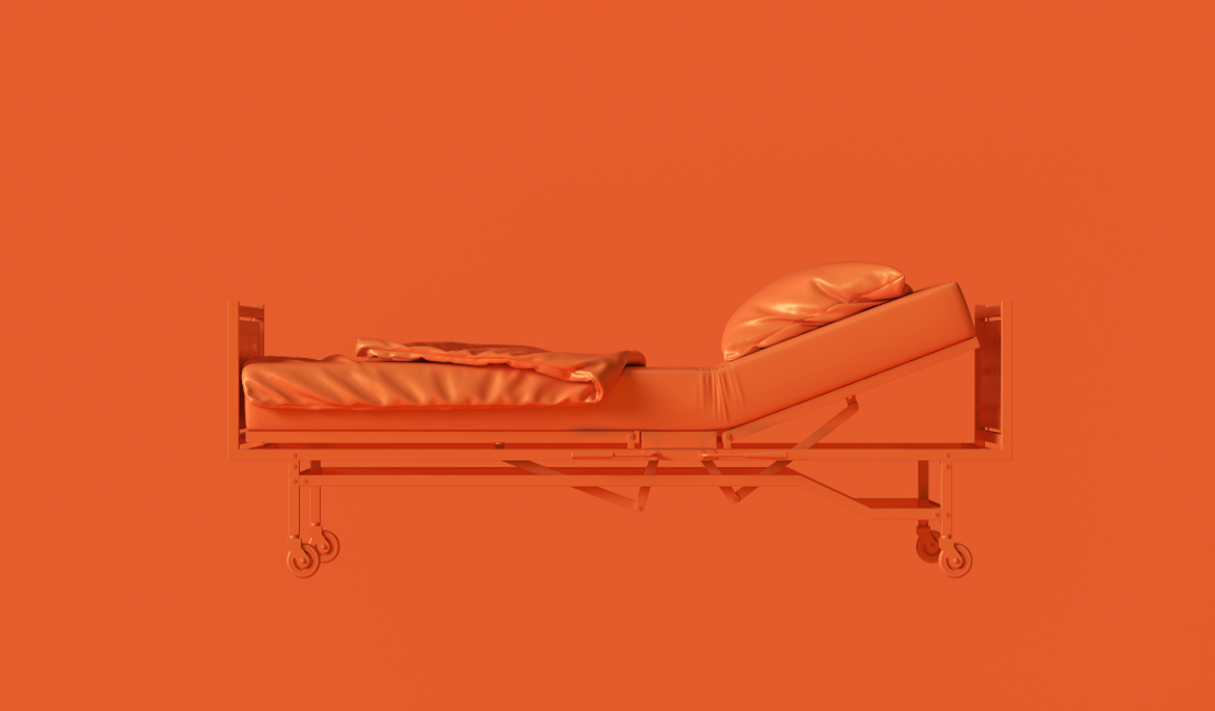 Animation of an old adjustable bed that works with a lever.
