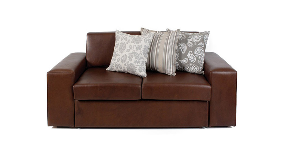 Leather sleeper couches like this beautiful brown leather couch is a luxurious seating/sleeping option.