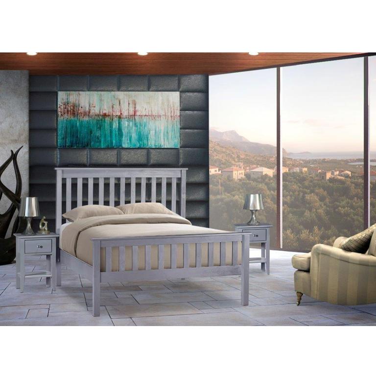 Charlene Hi-Foot Bed (Graphite) - King Bed