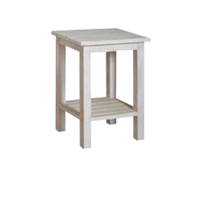 Charlene Double Shelf Pedestal (Rustic)