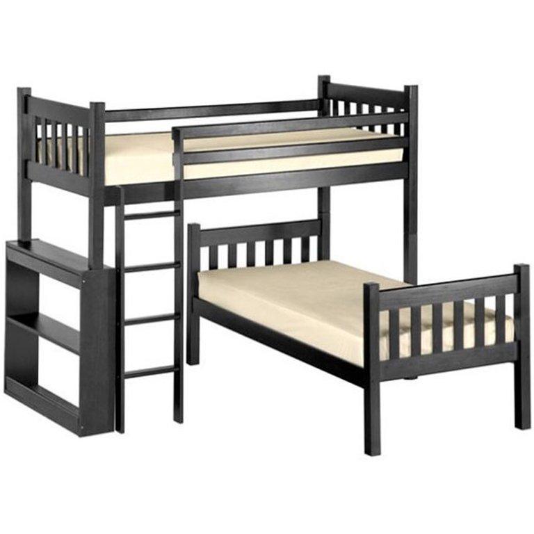 Charlene L-Shape Bunk Bed (Mahogany)