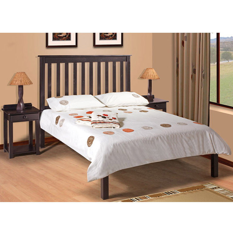 Charlene Low-Foot Bed (Mahogany) - Queen Bed