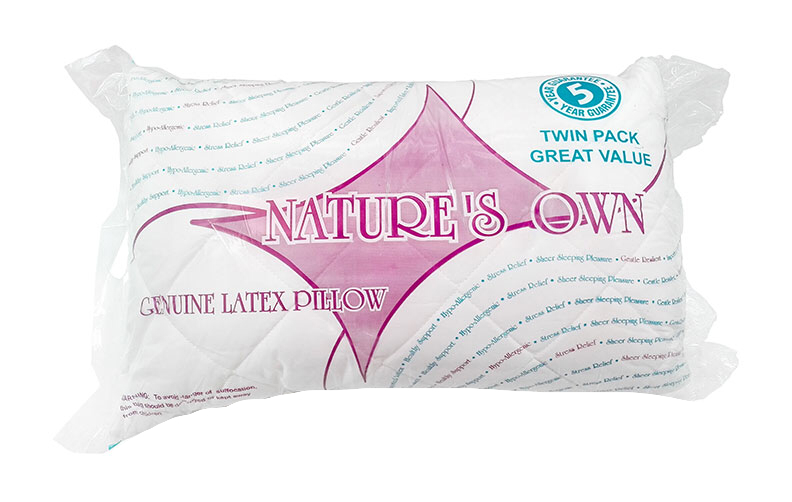 Nature's Own Twin Pack - Latex Pillow