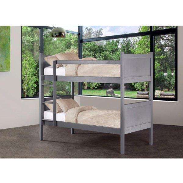 Kyle Panel Bunk Bed (Graphite)