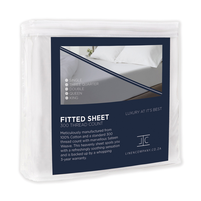 Linen Company 300TC Fitted Sheet