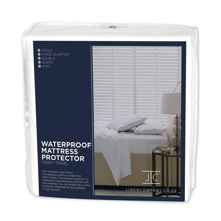 Linen Company Waterproof Terry Mattress Protector