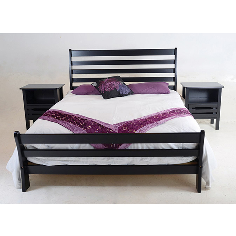 Magaliesberg Sleigh Bed (Mahogany) - Queen Bed