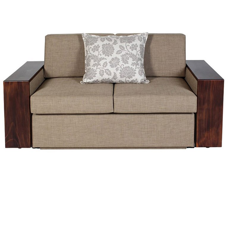 Moxi Double Sleeper Couch - Wooden armrest