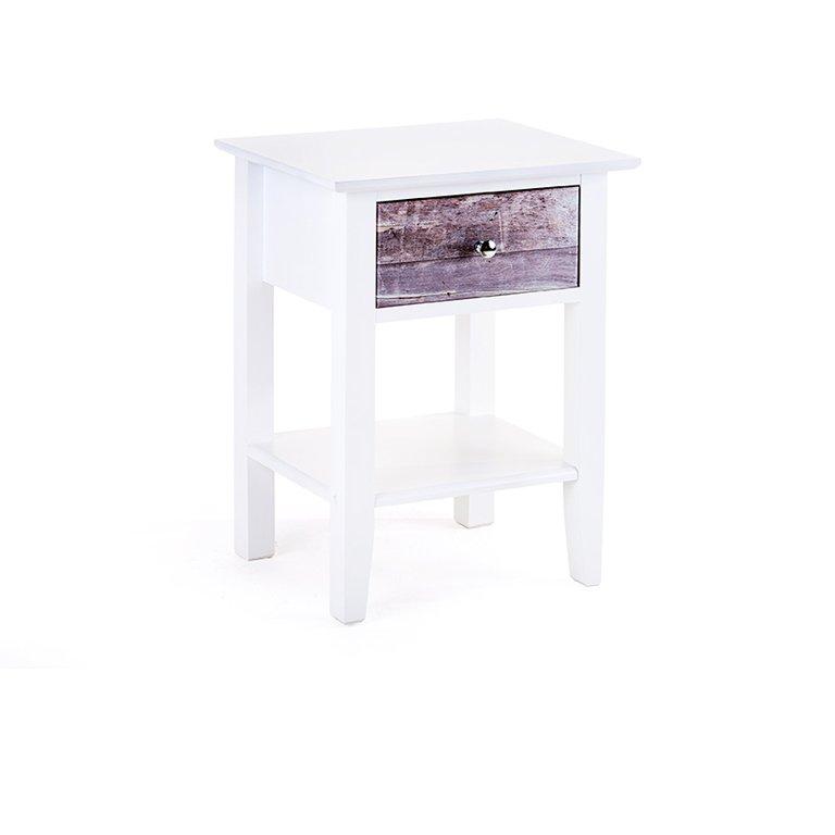 Oslo 1 Drawer Pedestal (White Wooded)