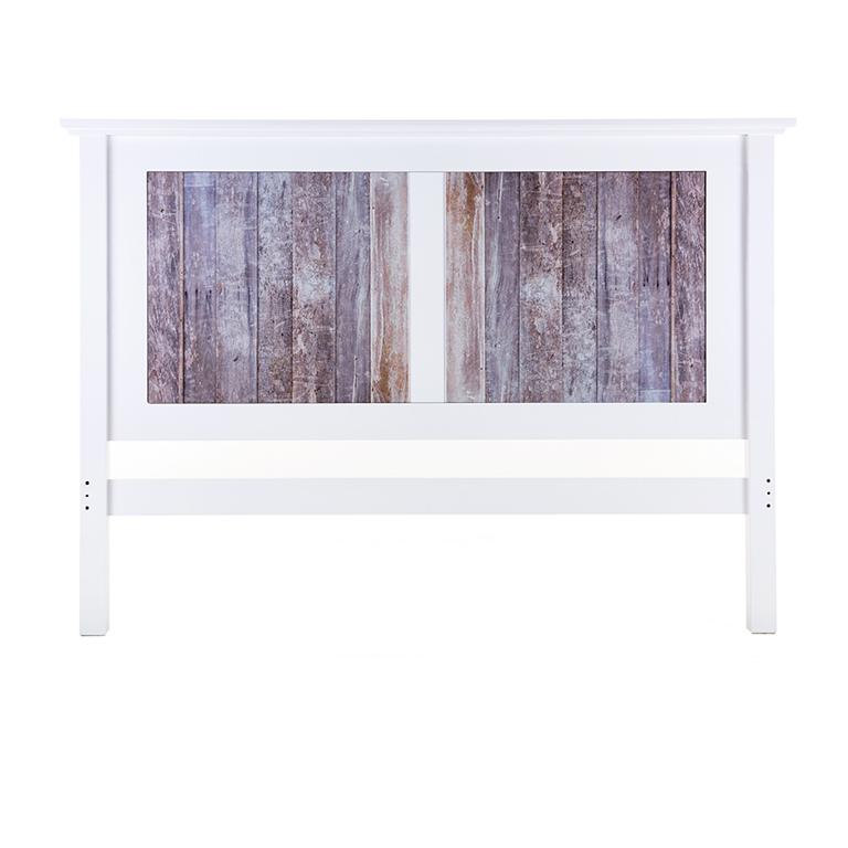 Oslo Headboard (White Wooded)