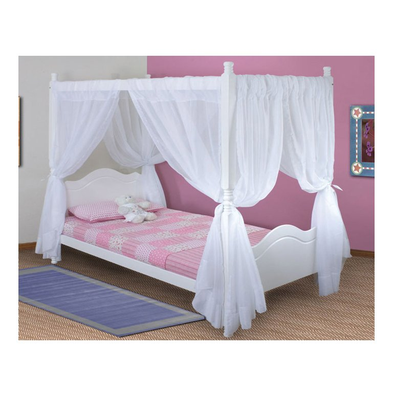 Princess Bed 4 Poster (White)