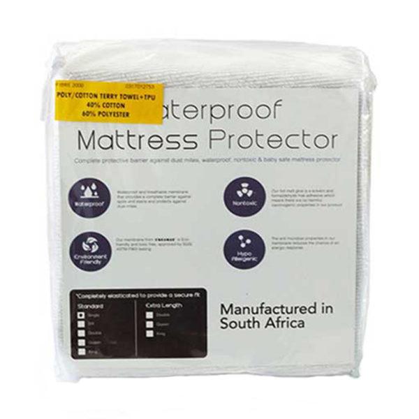 Waterproof Terry Towel Mattress Protector - Double