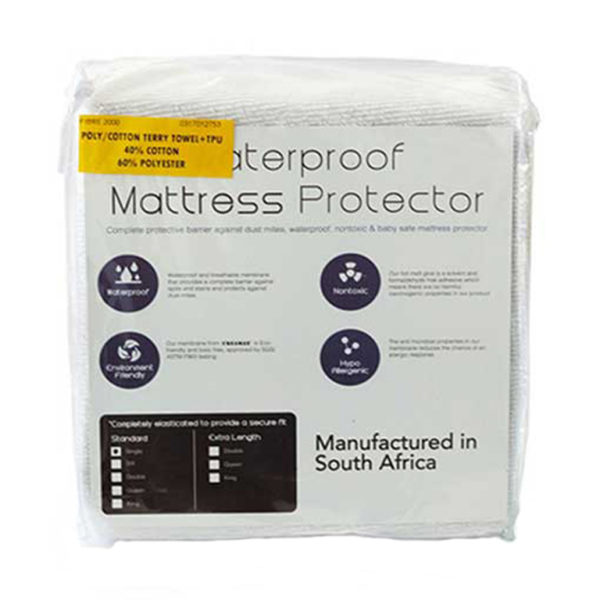 Waterproof Terry Towel Mattress Protector - Single
