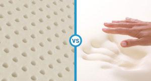 latex pillow verses memory foam