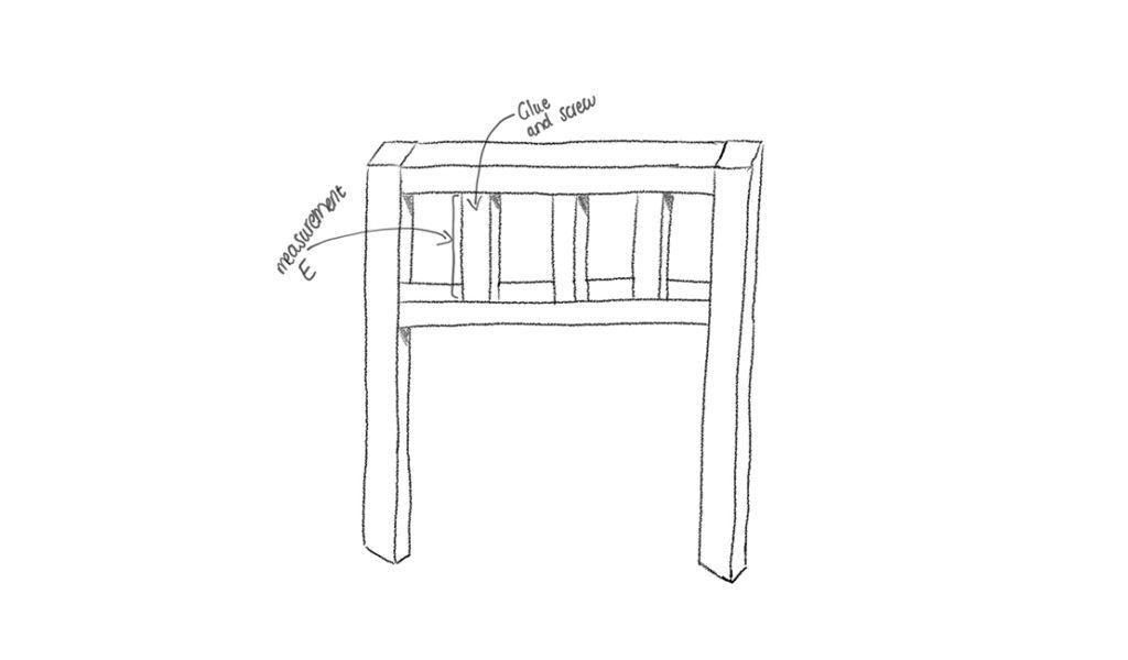 Pallet headboard frame illustrated