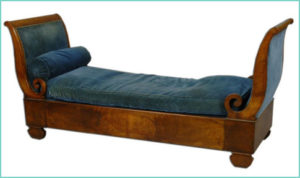 A sleigh bed from the 19th Century